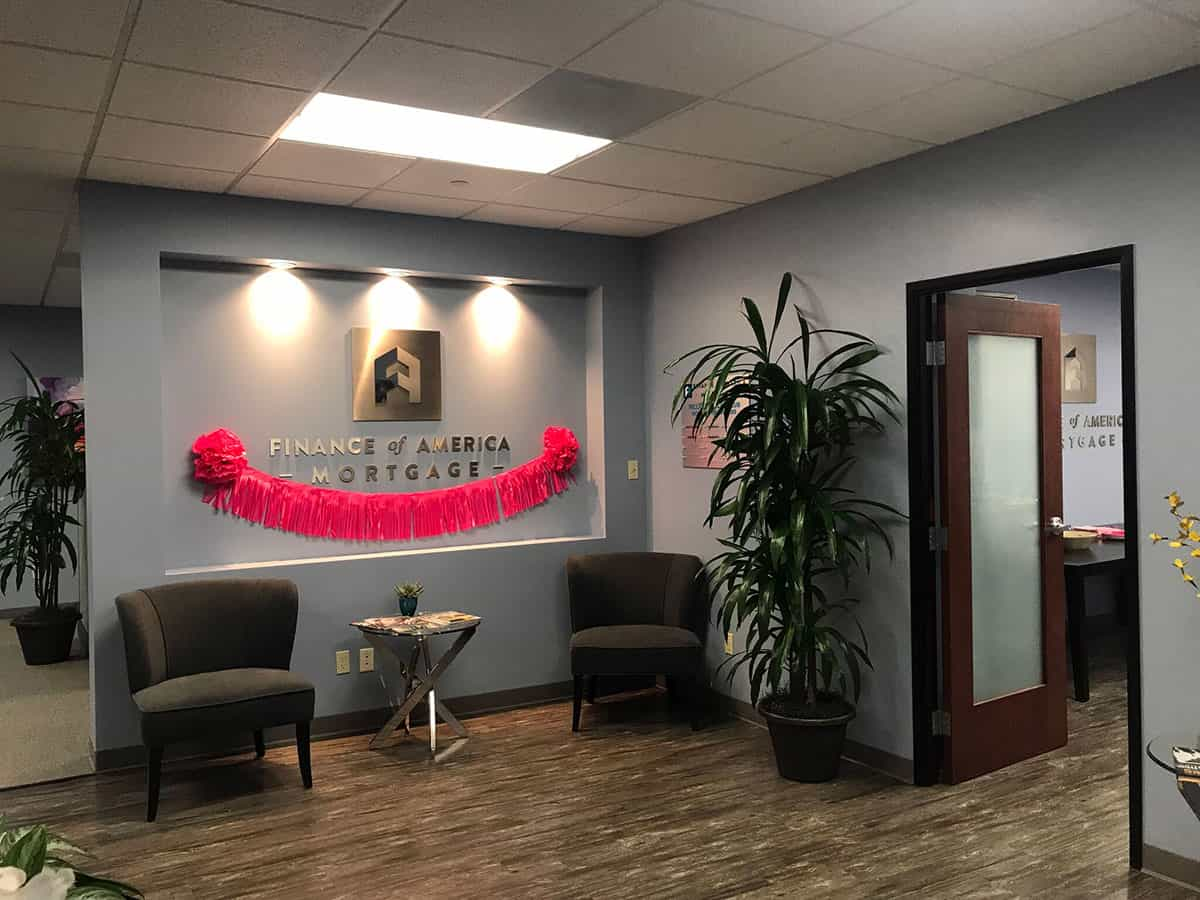 Finance Of America Mortgage Office Space Tenant Improvement Remodel